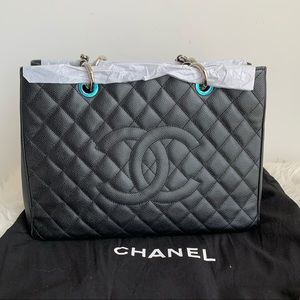 🔥New🔥 Chanel GST Black with silver hardware!!